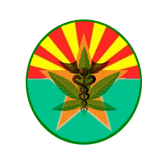 Arizona Medical Marijuana Flag Button